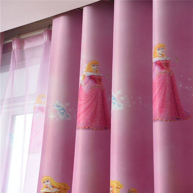 Children Cartoon Girls Bedroom Curtain Kids Blinds Window Shade ...