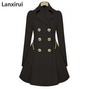 Image 4 - Especially Female Coat England Style Women Spring Double Breasted Long Trench Coat Overcoat Raincoat Windbreaker Coats 5XL PLUS