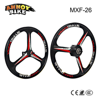 26'' Brushless Motor and Front Wheel 250W 26V/36V/48V Magnesium Alloy Wheel Black and White Suitable for Electric Bike
