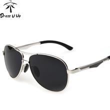 DRESSUUP 2017 Mentales Marco Polarizado gafas de Sol Hombres de Marca UV400 gafas de Piloto Gafas de Sol Para Hombre Gafas de Sol Gafas Masculino Hombre