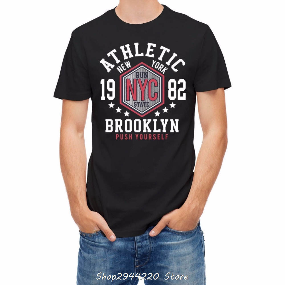 Ray oak band 2017 New Man Cotton T Shirt Men Clothing Sporter College  Athleticer Brooklyn T Shirt Men High Quality Personality-in T-Shirts from  Men s ... 9a73621757c