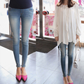 Barriga Denim maternidade calças calças Skinny lápis Jeans grávida elegante para mulheres grávidas 2016 New Fashion Plus Size 2XL