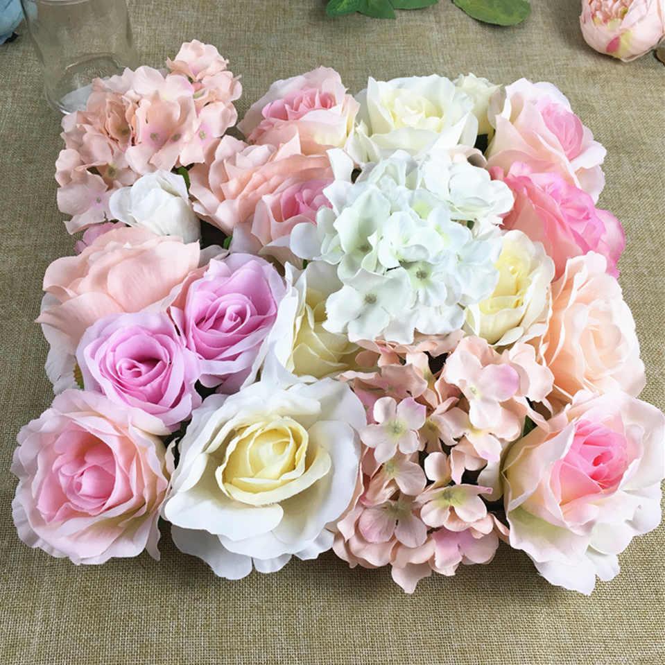 30 יח'\חבילה מלאכותי פרח ראשי משי ורדים פרח קיר עיצוב רקע פרחוני DIY מסיבת חתונת קישוט פלר artificielle