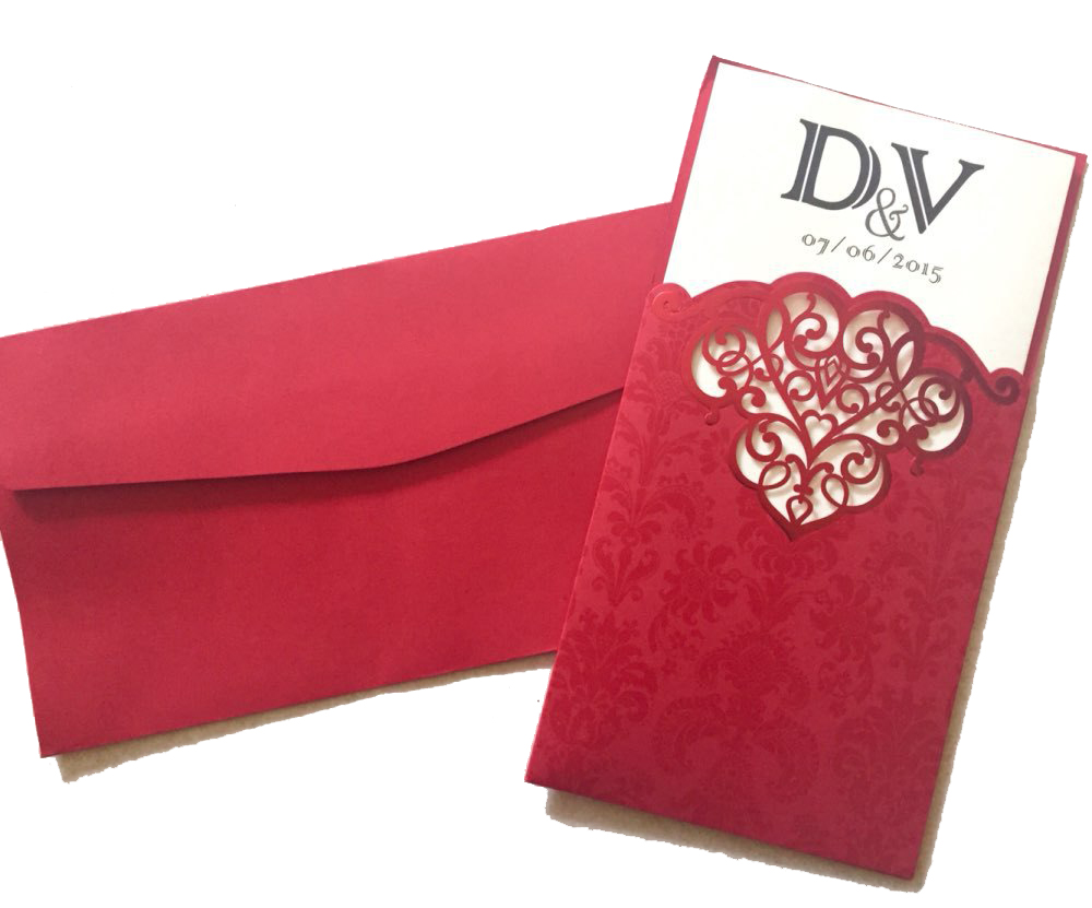 Red Wedding invitation card 2015, Luxury Wedding invitations Elegant ...