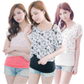 MamaLove 2 PCS Maternity pregnancy Clothes for Pregnant Women Summer maternity T-shirt nursing top Maternity Breastfeeding Tops
