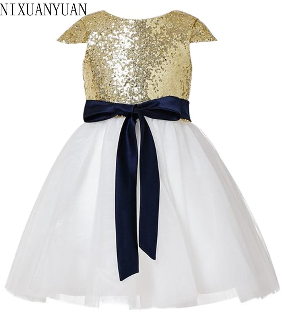 Тюль, цвет Шампань девочек Нарядные платья выпускного вечера детская с лямкой на шее для девочек 10 до для детей 12 лет для девочек длинные вечерние платья Пользовательские - Цвет: Золотой