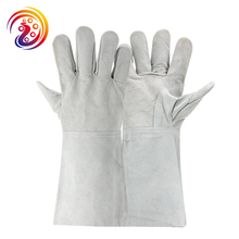 OLSON DEEPAK Cow Split Leather Barbecue Carrying Factory Gardening Welding Protective Work Gloves HY032 Free Shipping