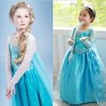Princesa de La Muchacha Vestido de reina de la nieve Traje Del Vestido de Cosplay Marca ropa infantil fantasia vestido Menina infantis bebé vestidos de Los Niños