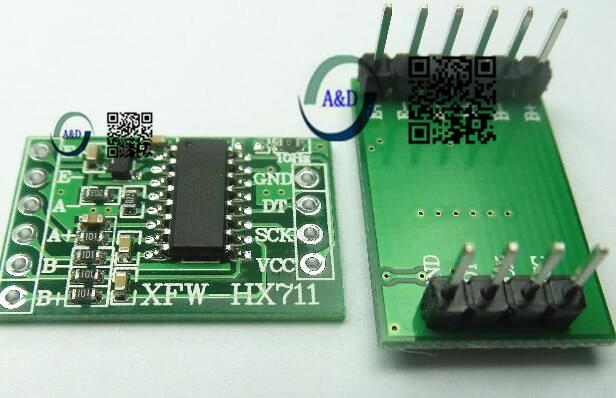 1pcs  Dual Channel HX711 Weighing Pressure Sensor 24-bit Precision A/D Module For Arduino