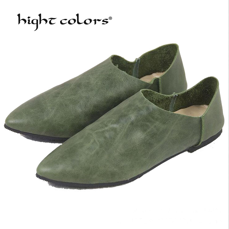 New 2019 New Spring Shoes Women Flats Top Quality Flat Shoes European Style Loafers Pointed Toe Casual Shoes Plus Size 34~40