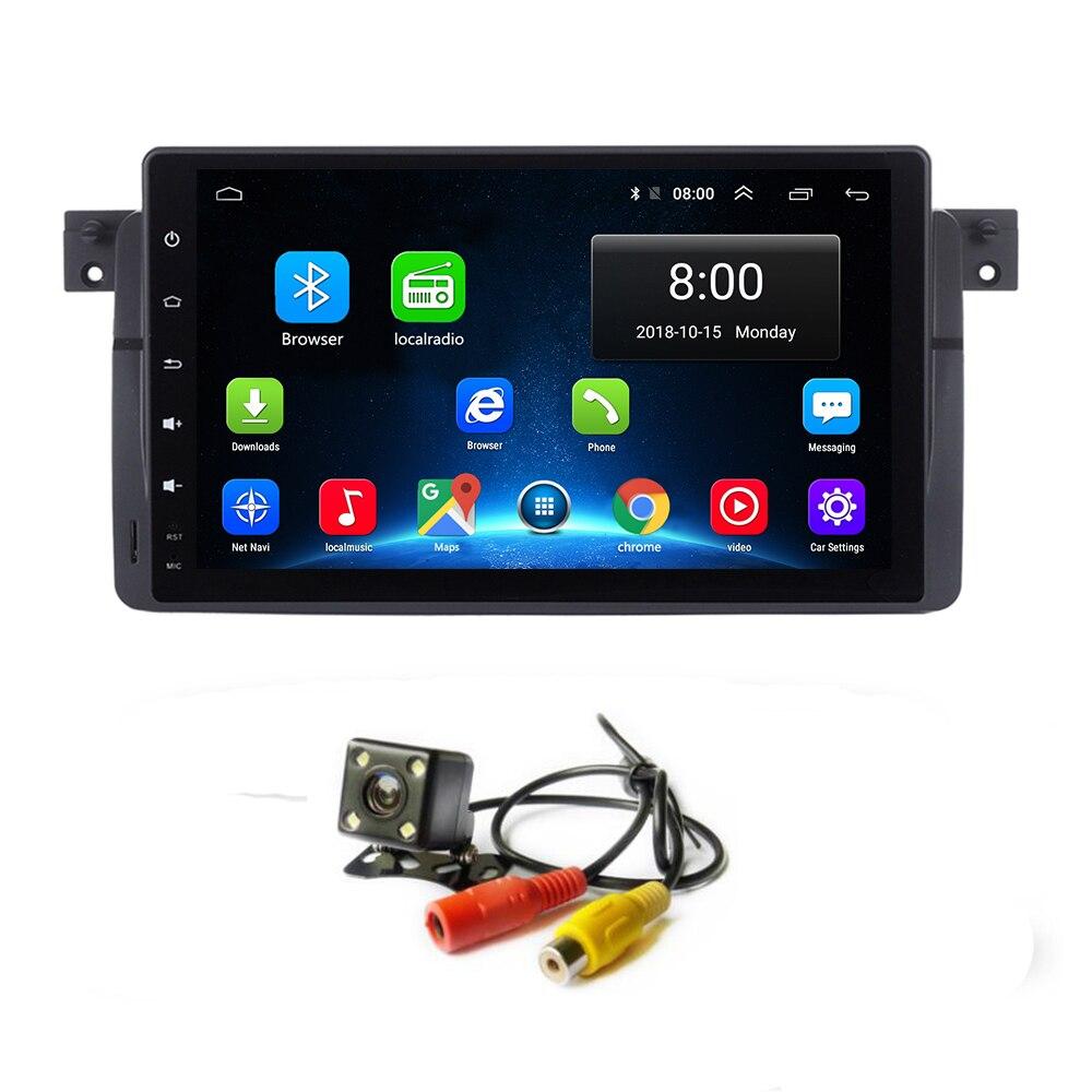 Android 8,1 GPS de coche para BMW serie E46 M3 95 05 unidad principal reproductor Multimedia de Radio estéreo con WIFI Bluetooth de navegación táctil