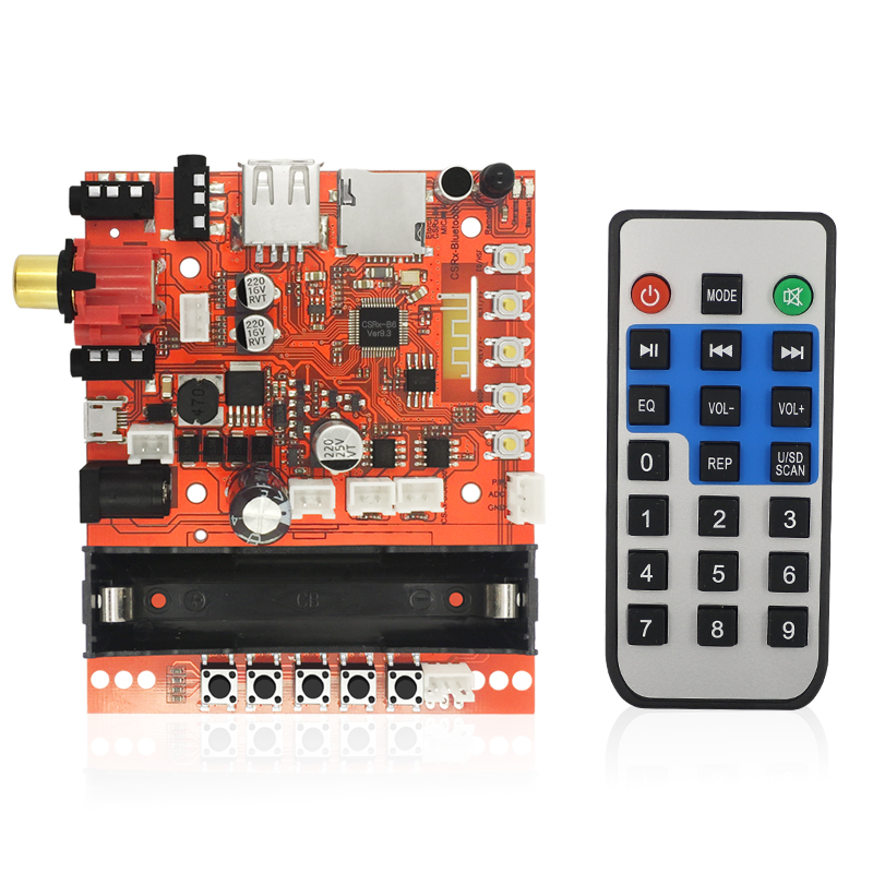 CSR wireless bluetooth audio receiver Home Theater Amplifiers USB portable active 3.5mm HiFi speaker DIY MP3 music computer