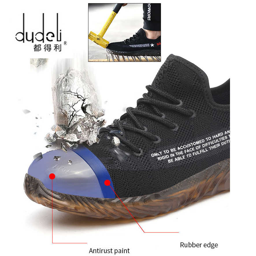 Outdoor Boots Men Safety Work Shoes Army Military Boots timber land Sneakers Steel Toe Cap Hiking Shoes Indestructible Shoes