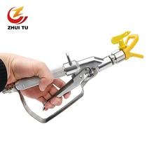 High Pressure Airless Paint Spray Gun airbrush +517 Spray Tip +Nozzle Guard for Wagner Titan Pump Spraying Machine все цены
