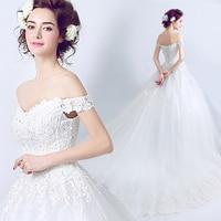 2017 new stock plus size women bridal gown wedding dress big large long tail train lace organza white sweetheart romantic 3308