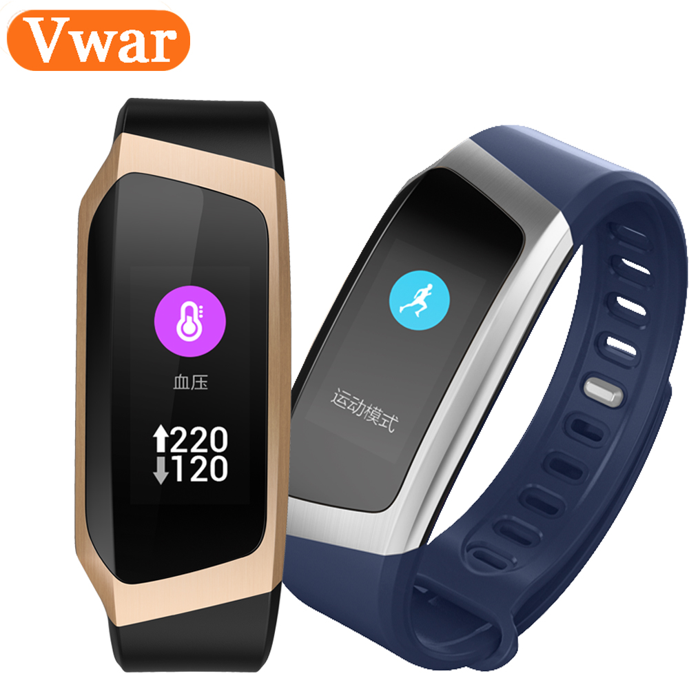 Vwar Smart Band E18 Color Fitness Tracker presión arterial Monitor de ritmo cardíaco pulsera VS huawei banda honor A2 3 fitbits