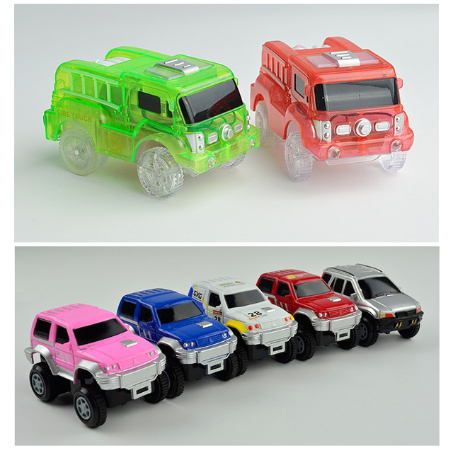 Mini Plastic Colorful Tracks Parts Car Model Electronics Glowing