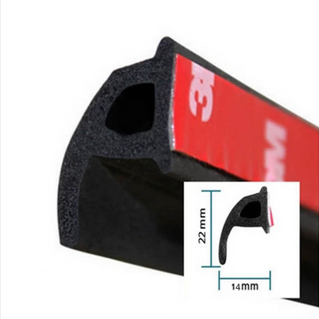 P Type 1M Car Door Seal Strip EPDM Noise Insulation Soundproofing Anti Dust  Sealing Strips