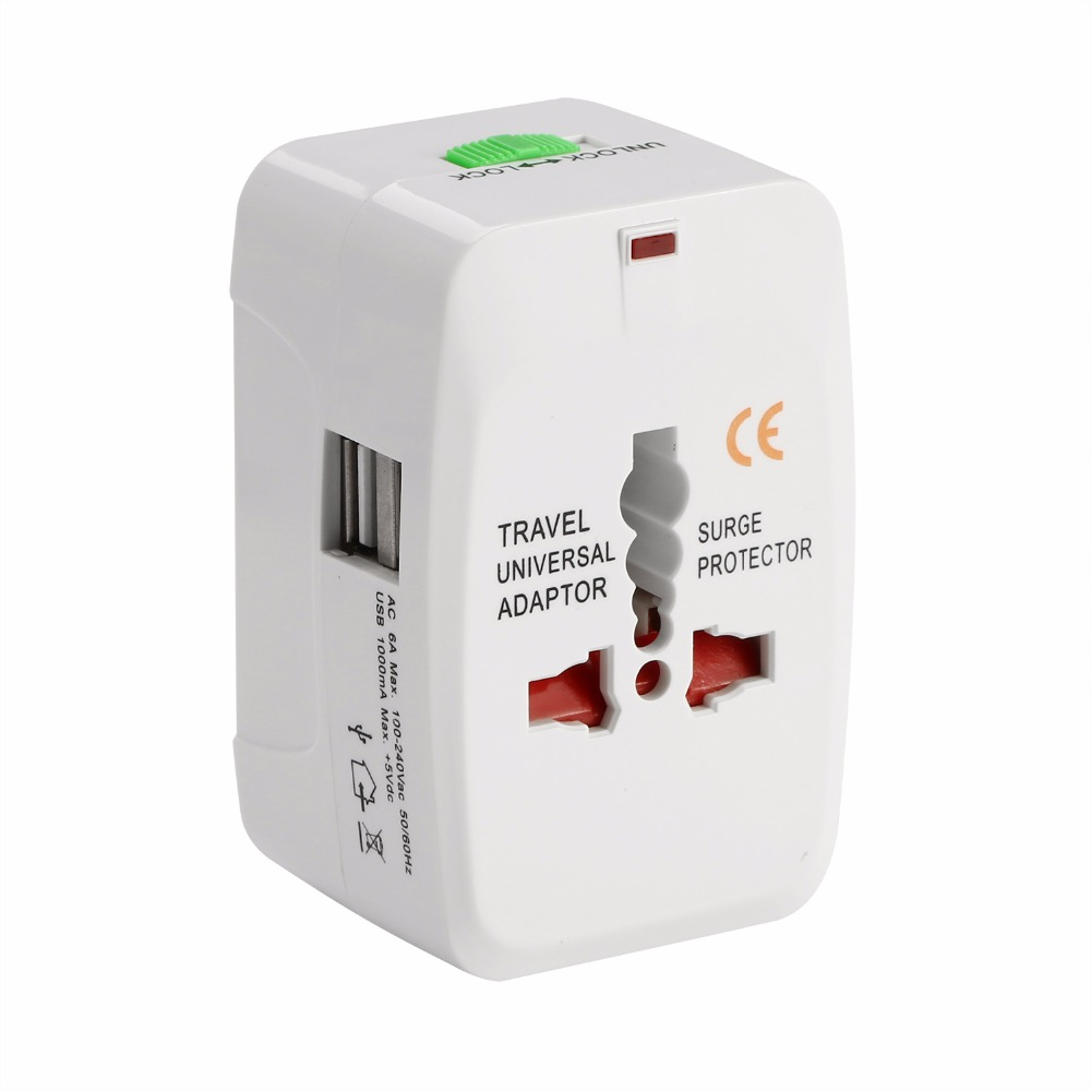 Us to uk ac power plug white black travel wall adapter plug converter - All In One Universal International Plug Adapter Port World Travel Ac Power Charger Adaptor With Au
