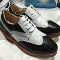 Мужчины натуральная кожа свадебная обувь черный белый мужчина одевания обуви качество мягкой акцентом обуви Корея стиль мода формальные партия обуви