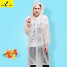 Туристические товары модные ЕВА износ дождя взрослых мужчин Прозрачный Non одноразовые портативный Утолщение Плащ Для женщин