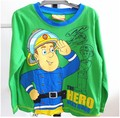 Boys T shirt spring and autumn fireman sam t-shirts boys fashion long sleeve SAM Clothing cotton top children's t-shirt