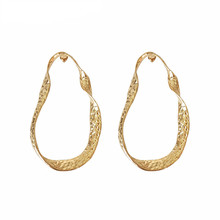 Exaggerated personality irregular concave and convex circle earrings fashion cool Womens delicate Jewelry