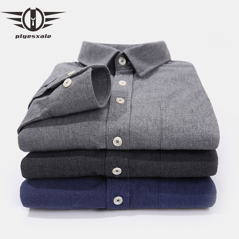 Plyesxale Slim Fit Men Formal Shirts Long Sleeve Mens Dress