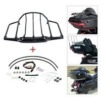 Tour Pak Pack Top Luggage Rack For Harley Touring Electra Road King Street Glide 1993 2013 Black/Chrome