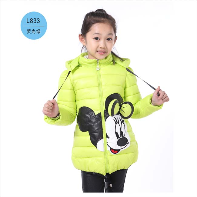 Forró! Lányok téli kabátok és ruházat gyerekek Minnie Cartoon - Gyermekruházat - Fénykép 4