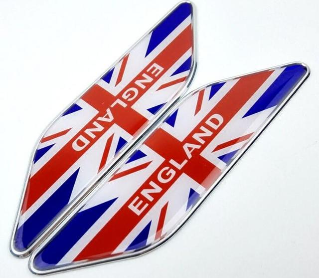 5 Pairs Aluminum National England Flags Car Styling Emblems