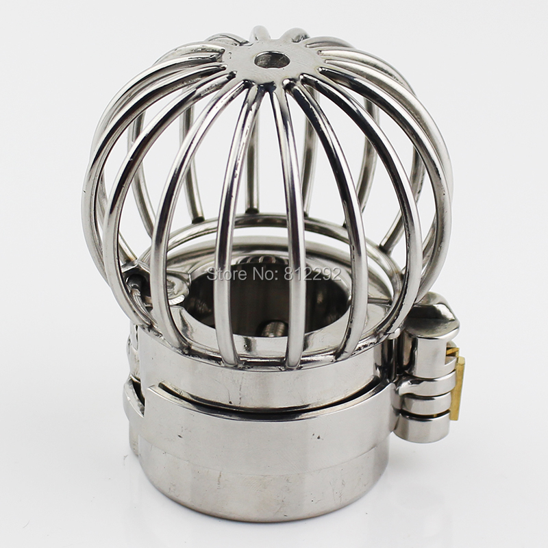 NEW Stealth Lock Design Scrotum Pendant Stainless Steel Ball Stretchers Cock Ring Locking Male Chastity Sex Toys