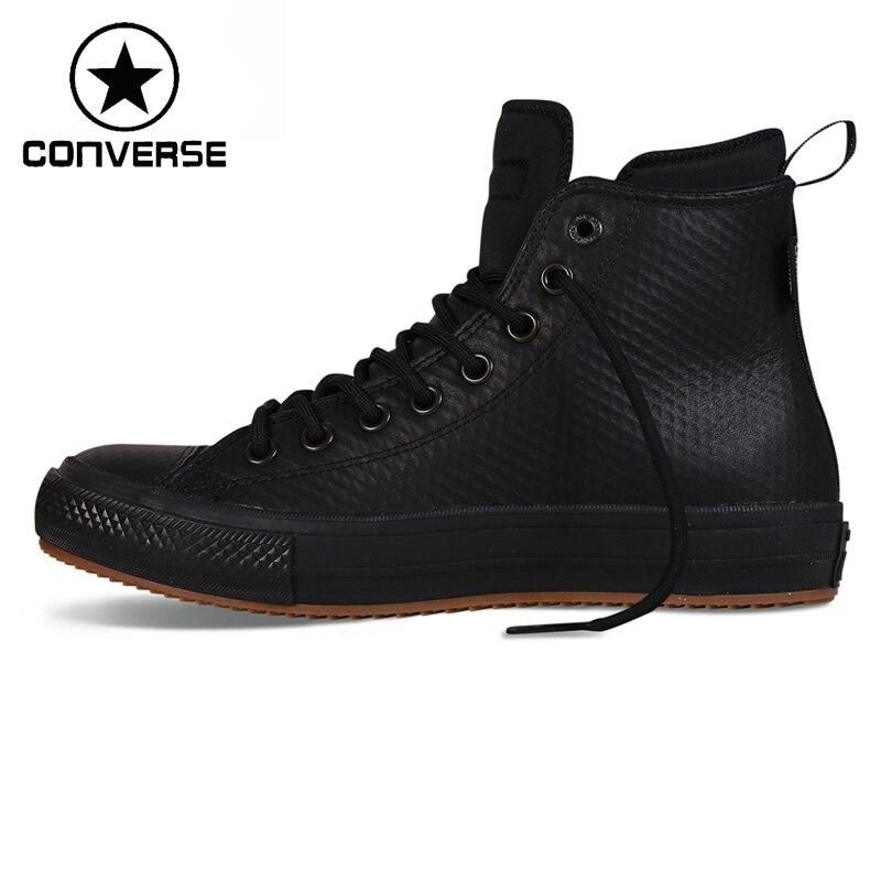Prix pour Original Nouvelle Arrivée Converse chuck II bottes Unisexe Planche À Roulettes Chaussures en cuir Sneakers