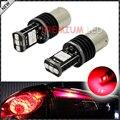 2 unids 15-piece Rojo Brillante 2835 SMD Free Error 1156 7506 BA15S P21W LED Bombillas Para Luces de Giro, Luces de la cola, Luces de freno