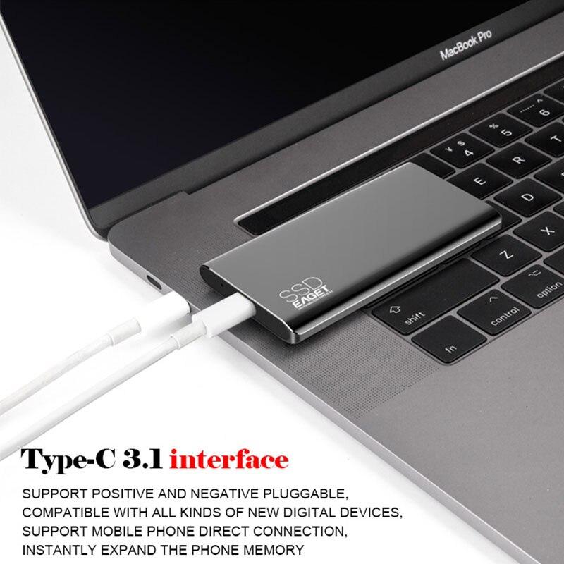 EAGET M1 plus récent article Portable SSD USB 3.0 128GB 256GB 512GB 1 to lecteur à semi-conducteurs externe meilleur cadeau pour hommes d'affaires - 3
