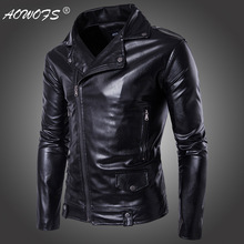 2018New arrive brand motorcycle leather jacket men, mens ,mens jackets coats