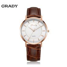 Бесплатная доставка грейди часы кварцевые мужские часы 3atm водостойкий лучший бренд роскошные кожаные часы