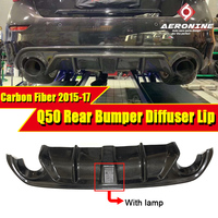 Для Infiniti Q50 JDM LH стиль задний румпель Add on диффузор W/VENT дизайн углеродного волокна с светодиодный стоп сигнал Q50S бампер губ 15 17