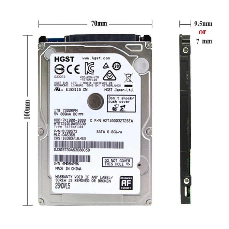 """HGST Thương Hiệu Máy Tính Xách Tay PC 2.5 """"500 GB SATA2/sata3 1.5 Gb/giây Máy Tính Xách Tay hdd ổ đĩa cứng 2 mb /8 mb 5400-7200 RPM disco duro miễn phí vận chuyển"""