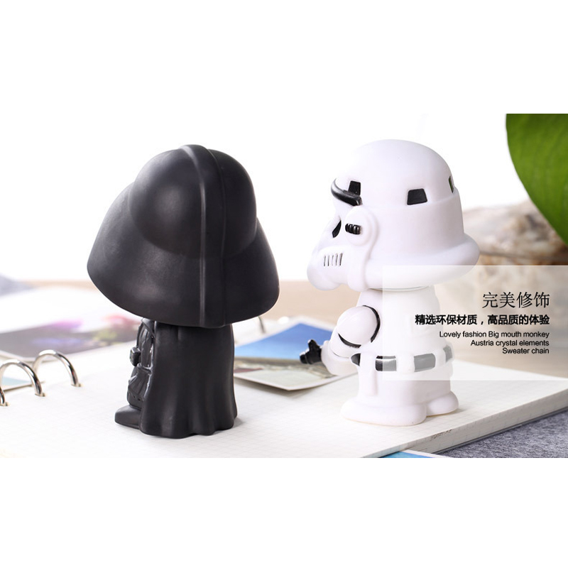 Image 4 - 11cm Star Wars Figure Action Darth Vader Action Figure Toy Bobble Head Star Wars Figures For Children Kids Toys-in Action & Toy Figures from Toys & Hobbies