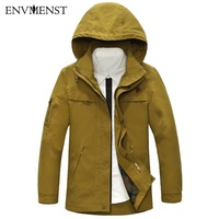 Envmenst Spring Autumn Men Casual Hooded Jacket 2017 Fashion Zipper Clothes Men S Windbreaker Coat Male