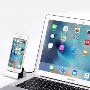 Image 5 - Cavo USB caricabatterie per telefono dati Dock Dock Station ricarica per iPhone X XS Max XR 6 6S 7 8 Plus 5 SE Docking Desktop Cradle