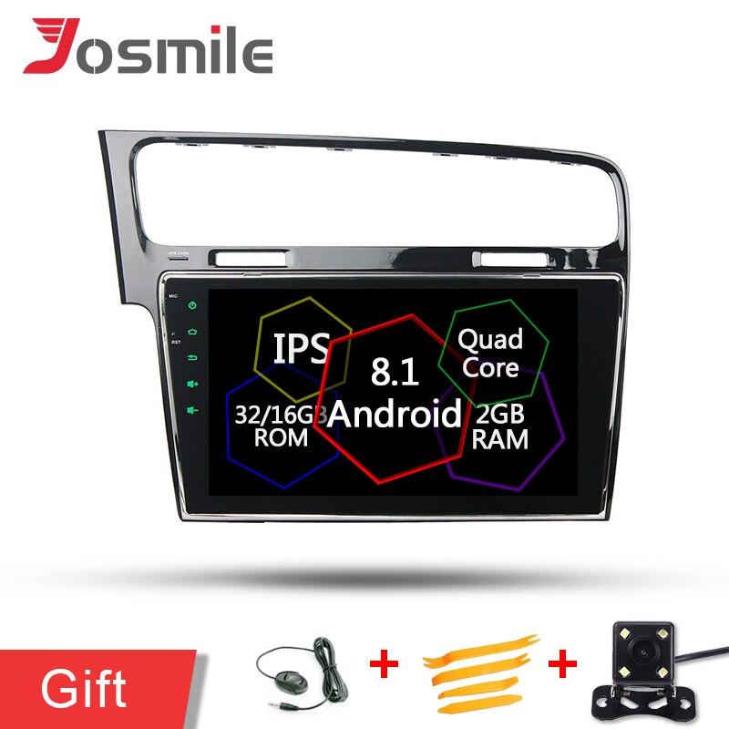 Quad Core Android 8.1 2 GB RAM autoradio lecteur GPS pour Volkswagen vw Golf 7 gauche lecteur de tête unités stéréo Audio Navigation DAB FM