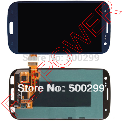 For Samsung Galaxy S3 i9300 i9305 i747 i535 T999 lcd screen with Dark Blue touch screen digitizer assembly; 100% warranty