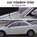 Внешние аксессуары  оконная отделка для M-azda M6  крышка из нержавеющей стали для автомобиля без колонны