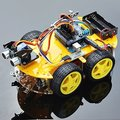Multi-função 4WD Robot Car Kits Ultrasonic Módulo UNO R3 MEGA328P Carro Robô Kit de Montagem para Arduino Frete Grátis
