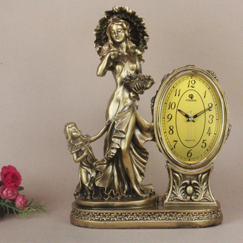 Special Hot Selling Living Room Clock Table European Antique Seat Silent Pendulum Classical Creatio