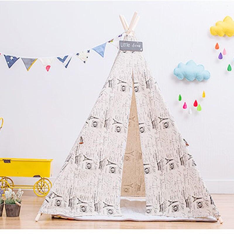 Vent britannique enfants tente jouet jeu maison enfants croix maison intérieure tente photographie Prop tente en plein air jouet tentes pliant Playtent