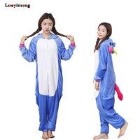 New Unisex Adult Winter Anime Unicorn Pajamas Animal Pijama Sets Sexy Hooded Homewear Flannel Sleepwear Female