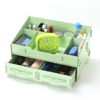 DIY Cosmetic Orgainzer Container Jewelry Box Desktop Storage Box Pencil Boxes Wooden Stationery Organizer For Cosmetics